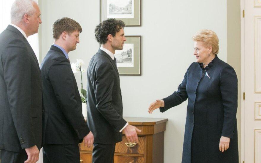 Gintautas Barcys, Valentinas Gavrilovas, Šarūnas Keserauskas ir Dalia Grybauskaitė