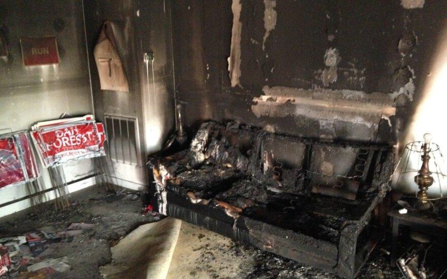 Офис республиканцев в Северной Каролине сожгли и разрисовали свастикой