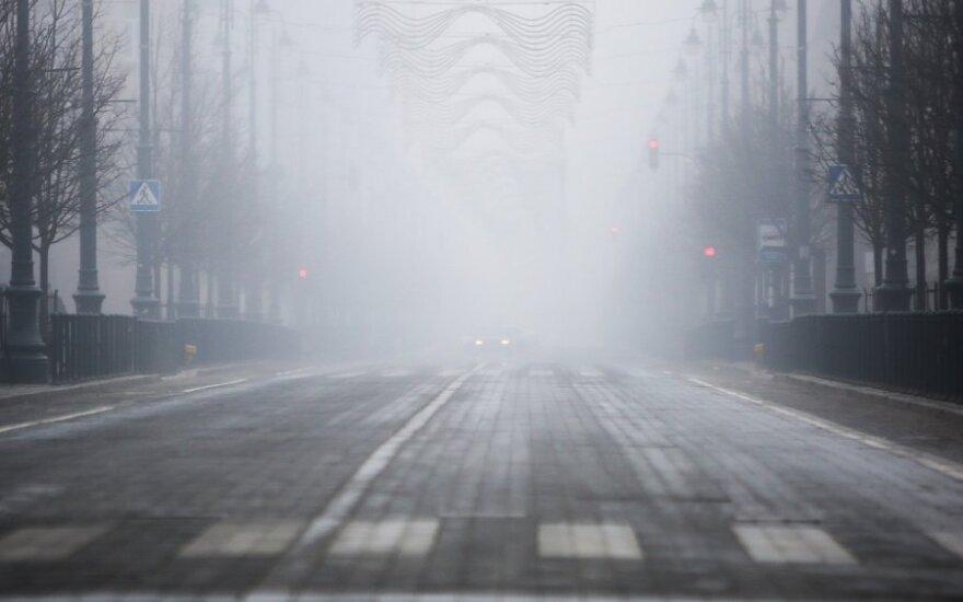 Условия движения усложняет гололед и туман
