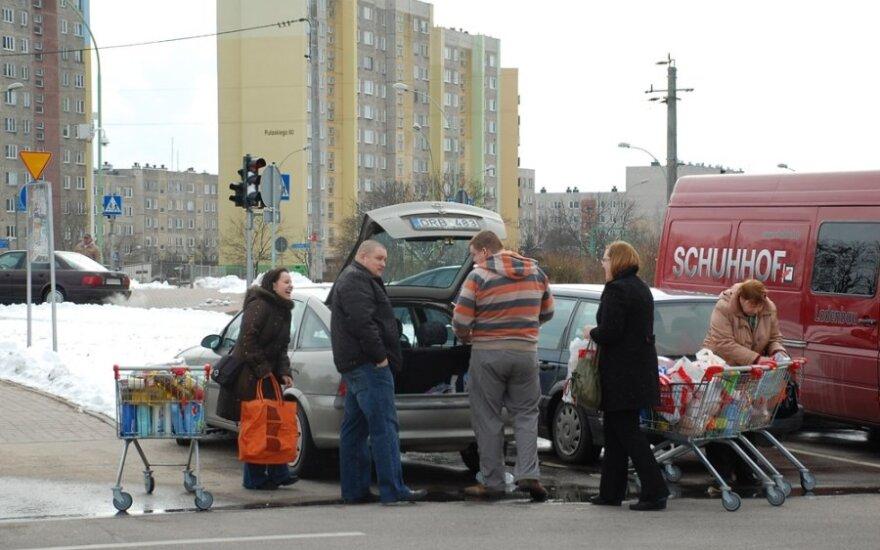 Litwini na zakupach w Polsce