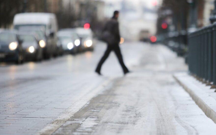 В Литву с треском вернулась зима
