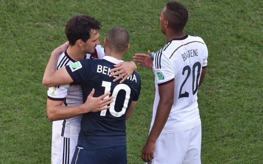 Matsas Hummelsas, Karimas Benzema ir Jerome'as Boatengas