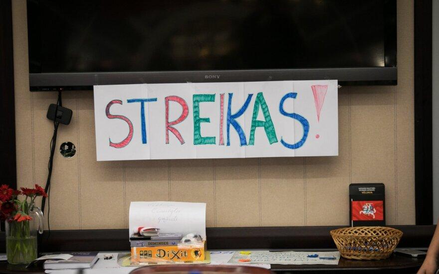 И снова забастовка: в некоторых школах Литвы бастуют учителя