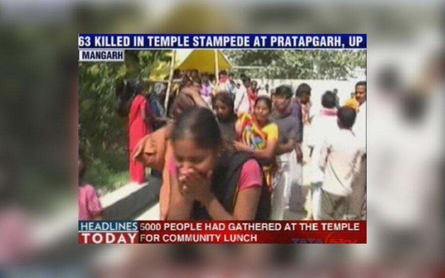 В Индии обрушились ворота храма: 65 погибших