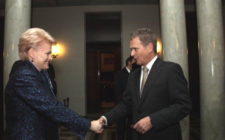 Грибаускайте поздравила президента Финляндии с днем независимости
