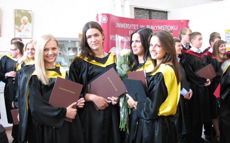 Wręczenie dyplomów na Filii w Wilnie UwB