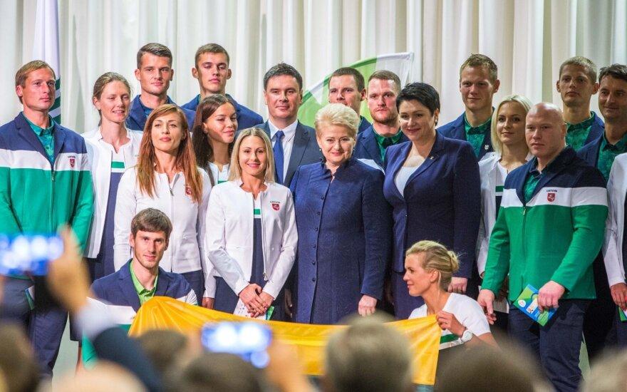 Литовских спортсменов проводили в Рио