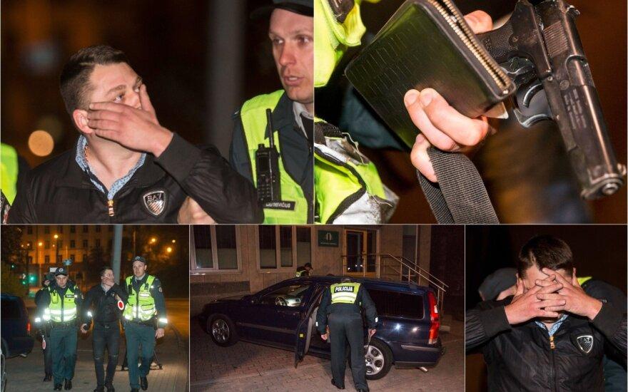 Рейд в Вильнюсе: полицейским пришлось догонять вооруженного беглеца