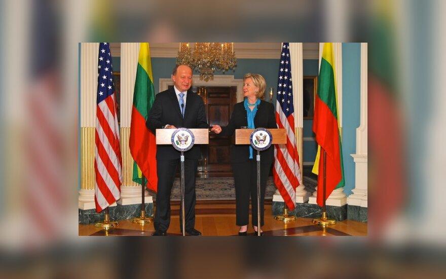 Andrius Kubilius ir Hillary Clinton