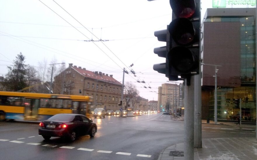 В центре Вильнюса погасли светофоры