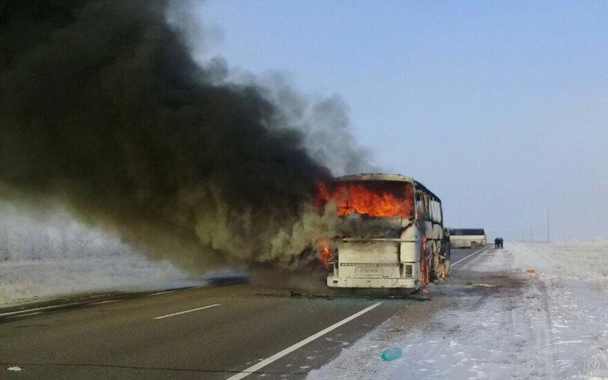 В Казахстане в автобусе заживо сгорели 52 человека