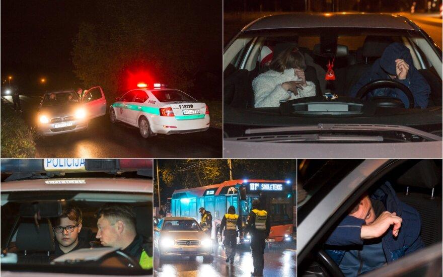 Ночной рейд в Вильнюсе: попались всего два нетрезвых водителя