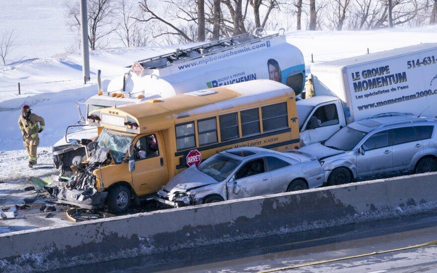 В ДТП под Монреалем столкнулись 200 машин: есть жертвы, десятки раненых