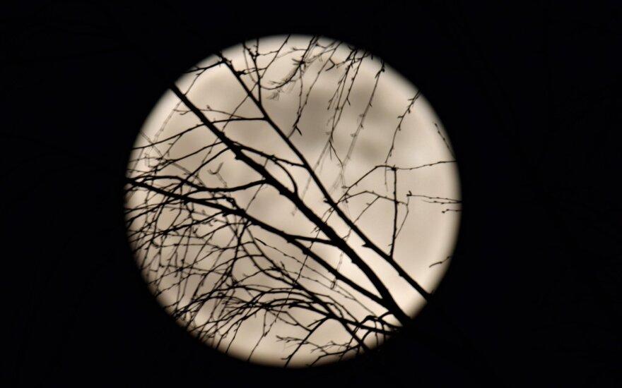 Naktį iš balandžio 7 į 8 d. buvo galima išvysti mėnulį ypač iš arti.
