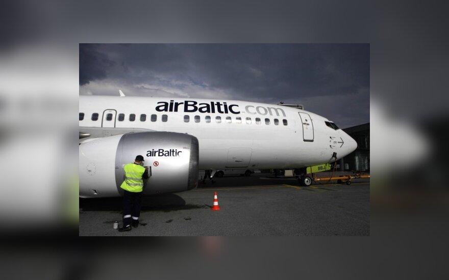 Число пассажиров airBaltic выросло на 18%