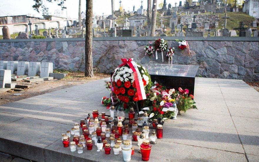 Jozef Pilsudski's at the Rasos cemetery