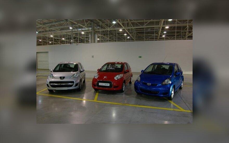 Peugeot 107, Citroen C1 ir Toyota Aygo