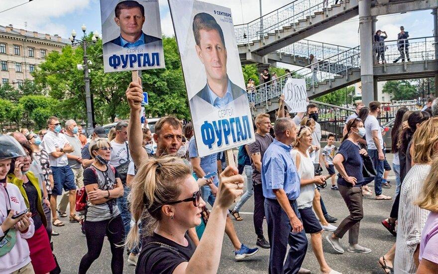Protestai Chabarovske