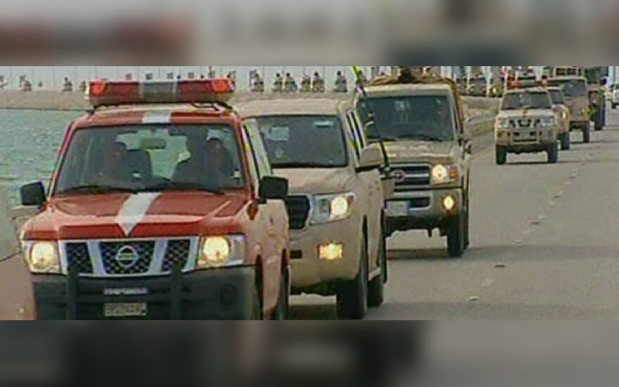Į Bahreiną atvyko pajėgos iš Saudo Arabijos