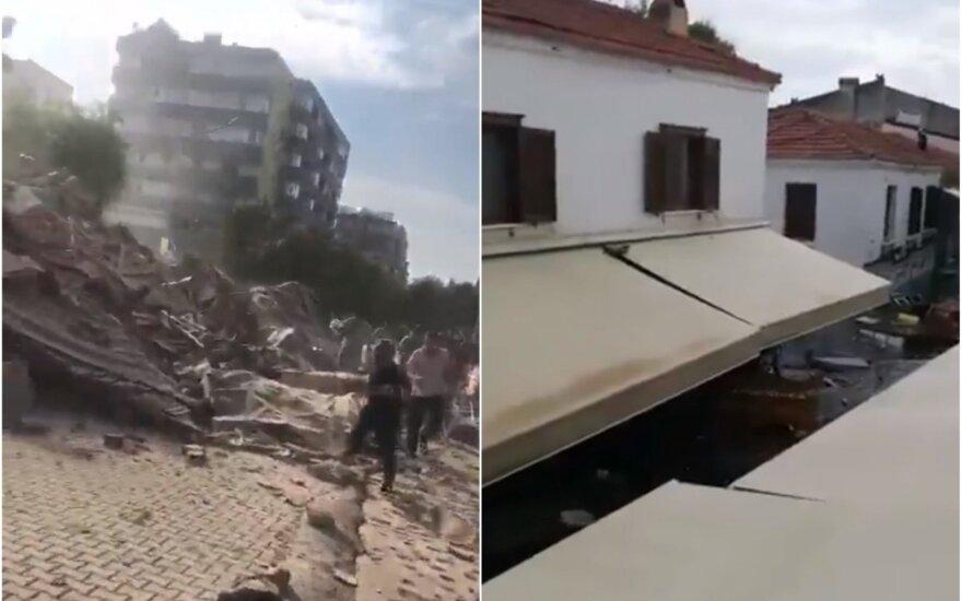 Землетрясение в Эгейском море: разрушения в Греции и Турции, сообщения о погибших