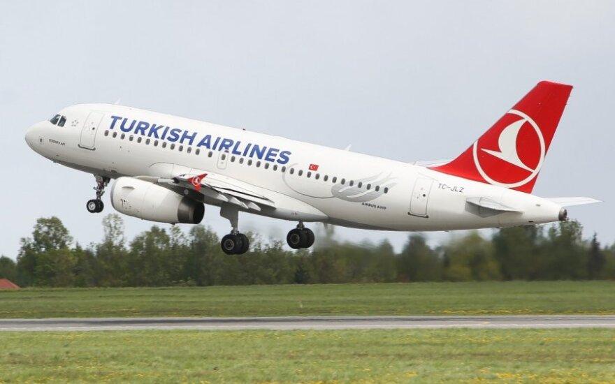 Turkish Airlines в четверг возобновит полеты из Вильнюса в Стамбул