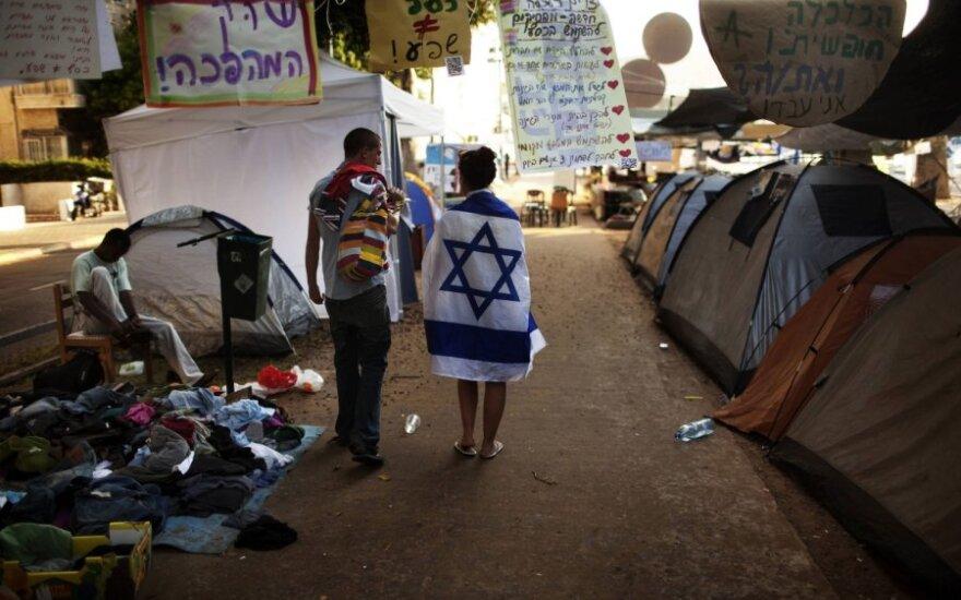 Izraelio jaunimas protestuoja prieš augančias kainas