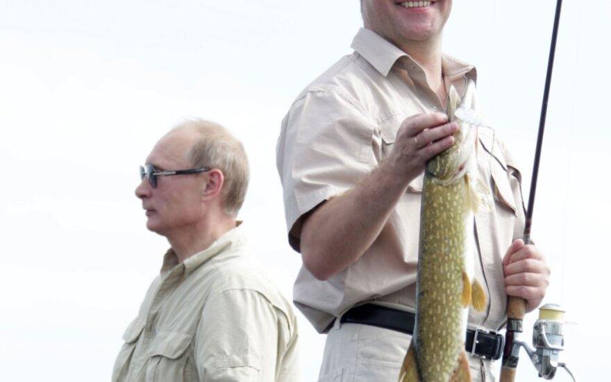 Медведев и Путин порыбачили