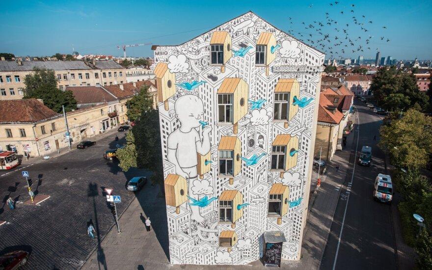 Вильнюсцев радует впечатляющий рисунок в центре города