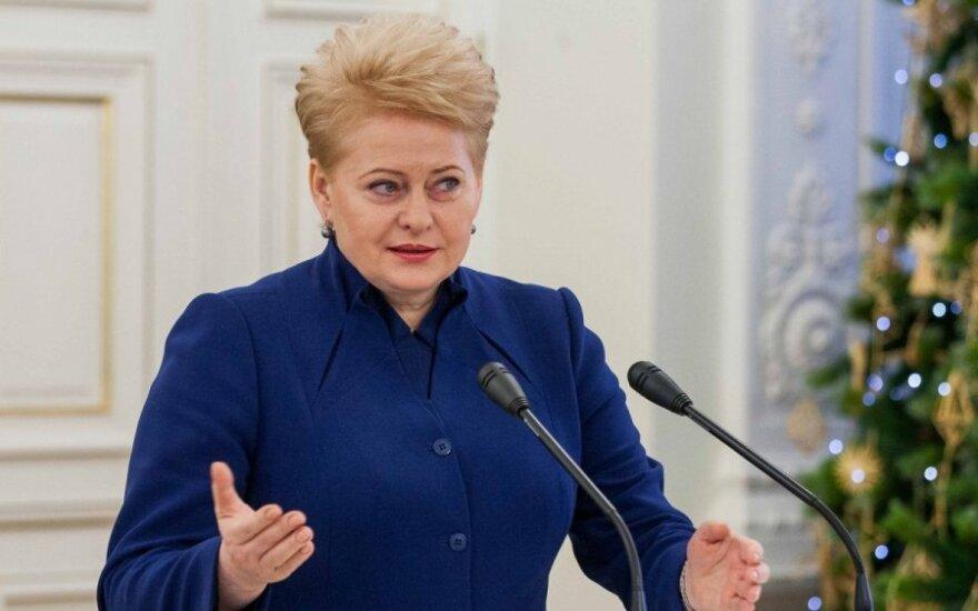 Грибаускайте: уходящий год был очень успешным для Литвы