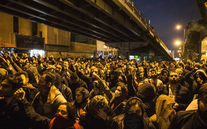 В Тегеране проходят протесты против Корпуса стражей исламской революции