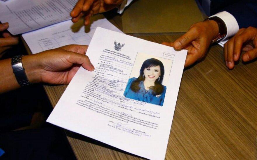 Princesės Ubolratanos dokumentai rinkimams
