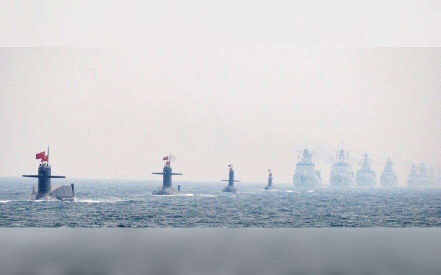 Kinijos laivų armada pažymi 60-ąsias šalies laivyno įkūrimo metines.