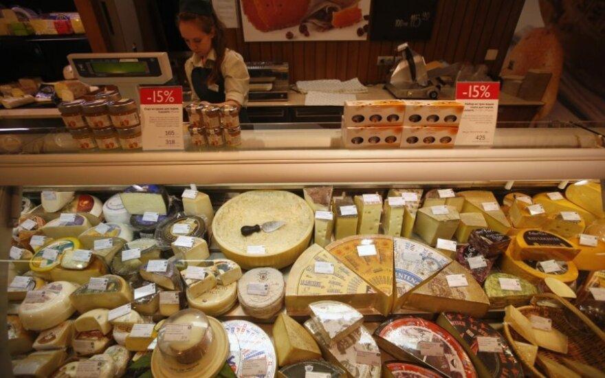 Maisto prekės Rusijos parduotuvėje