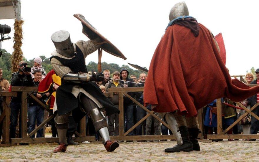 Праздник средневековья в Тракайском полуостровном замке
