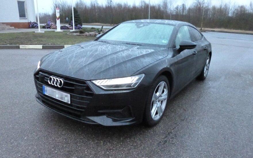 Украинцы приехали в Литву на только что угнанном в Германии автомобиле Audi A7 Sportback