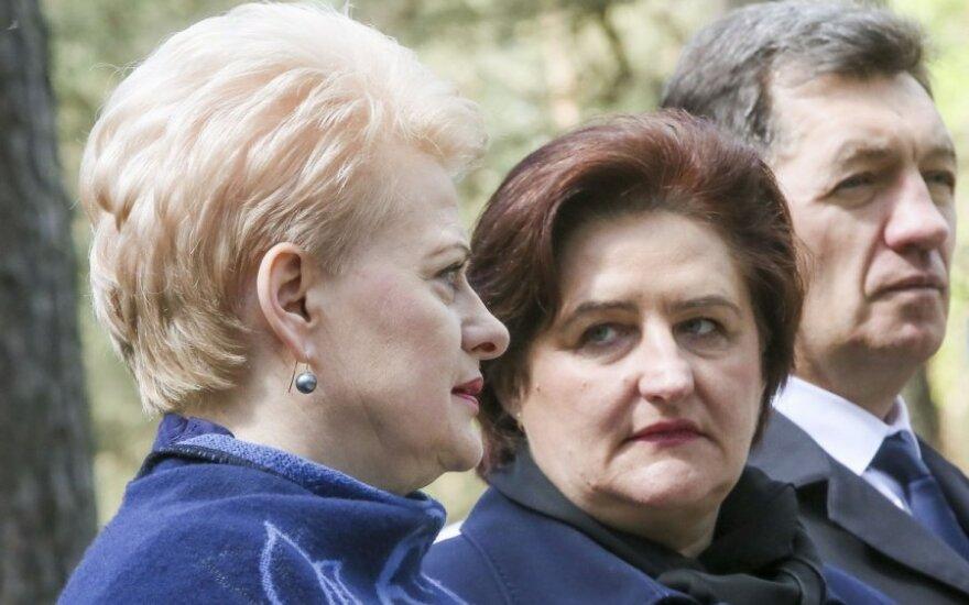 Dalia Grybauskaitė, Loreta Graužinienė ir Algirdas Butkevičius