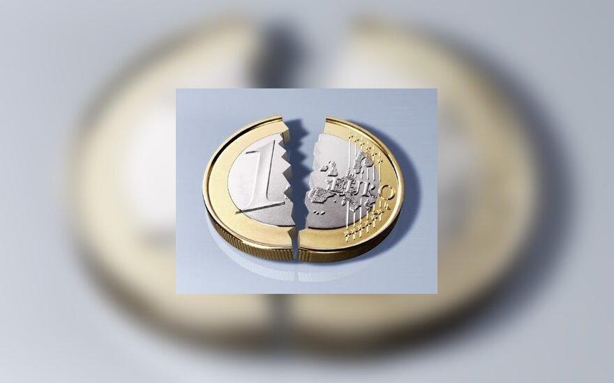 Eurai, pinigai, moneta, euras, nuostoliai