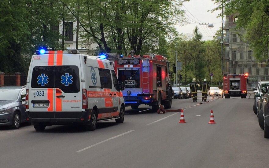 В Вильнюсе горел дом бывшего главы банка Snoras