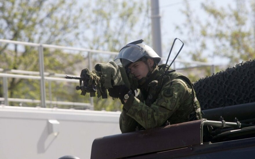Kariai ir pareigūnai Kaišiadoryse treniravosi kovoti su separatistais
