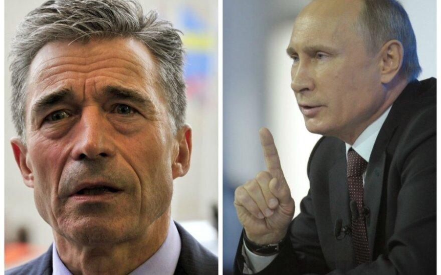 NATO zaprzecza, że Rasmussen nagrywał rozmowę z Putinem