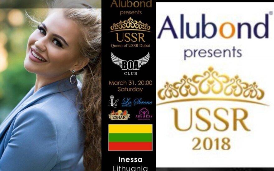 Konkurso dalyvė iš Lietuvos