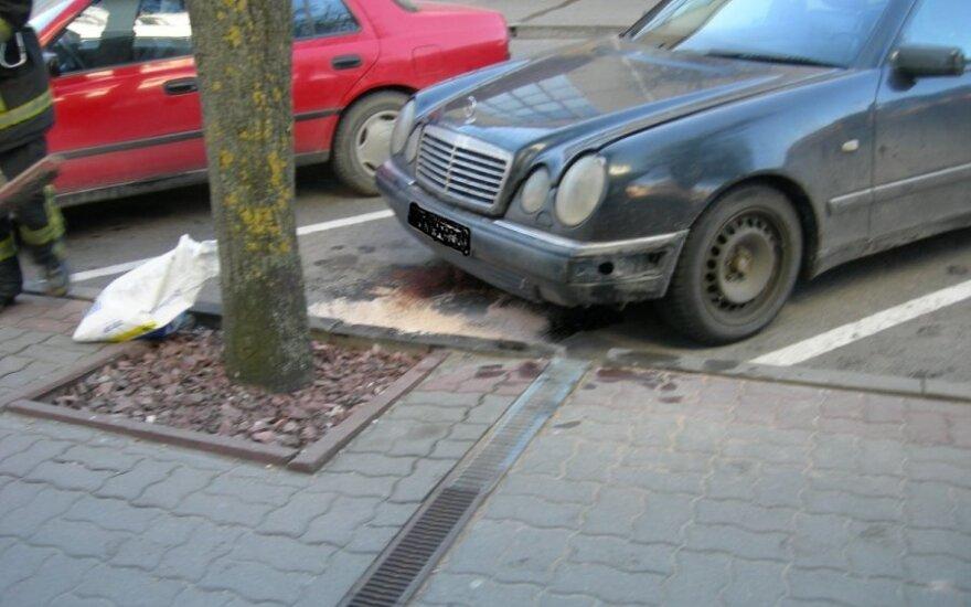 "Aplinką teršęs ""Mercedes - Benz"" automobilis"