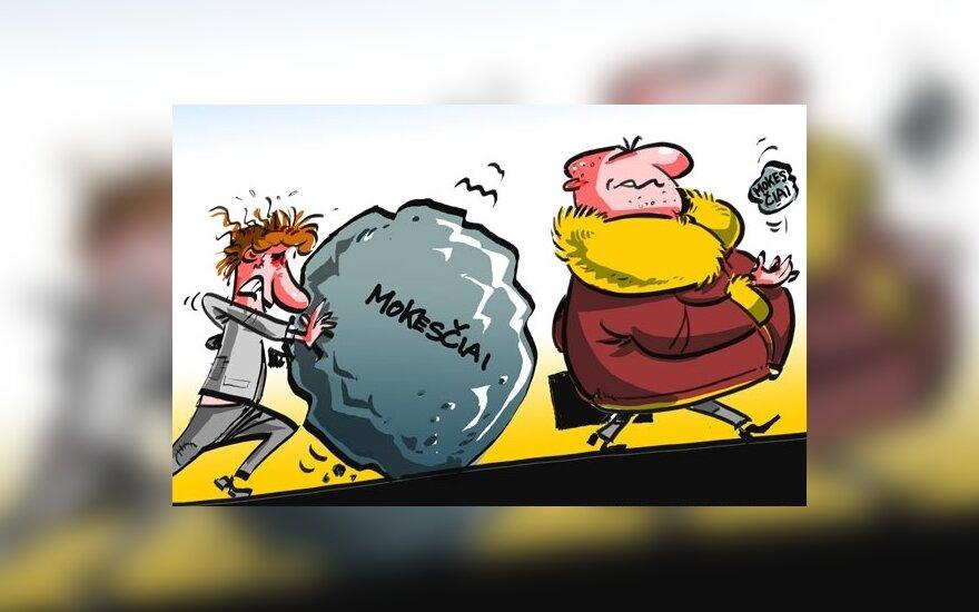 Жилюс в прогрессивных налогах видит больше вреда, чем пользы