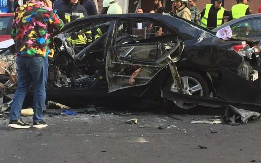 Kijevo centre susprogdintas automobilis