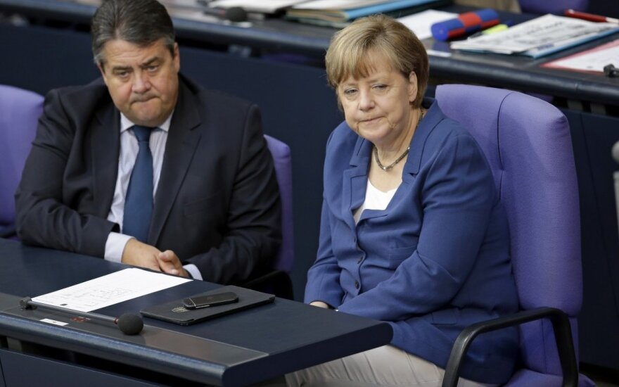 Sigmar Gabriel ir Angela Merkel