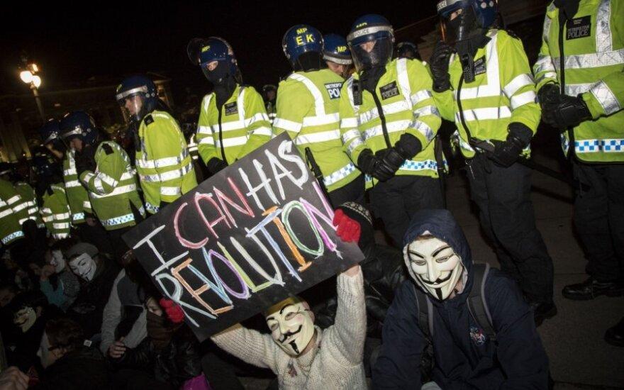 В Лондоне проходит акция против миграционного указа Трампа