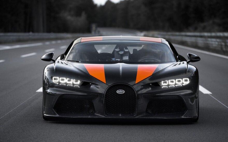 """Su """"Bugatti Chiron"""" pasiektas pasaulio rekordas"""
