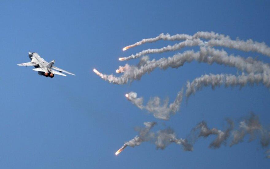 """Rosyjski """"Su-24"""" przy litewskiej granicy"""