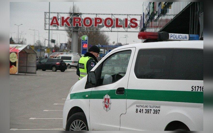 Угрожавшие взорвать Akropolis в Шяуляй юноши задержаны