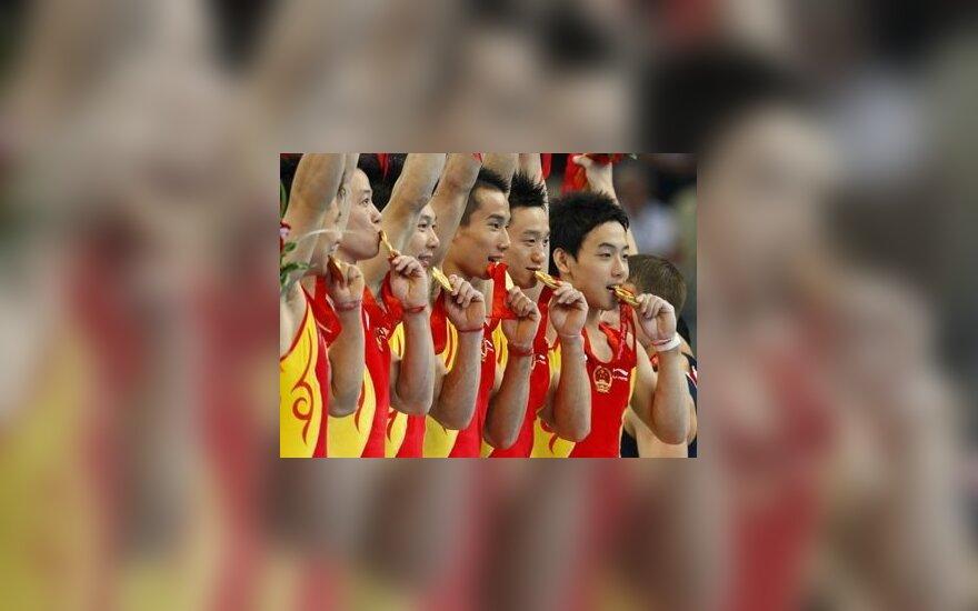 Kinijos gimnastai, Pekino olimpiadoje laimėję aukso medalius